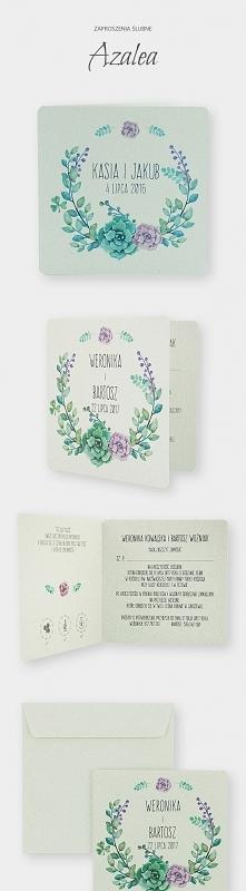 Zaproszenia ślubne z kolekcji Azalea