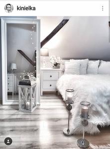 sypialnia łóżko lustro