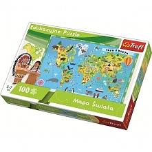 Mapa Świata dla dzieci (15502)