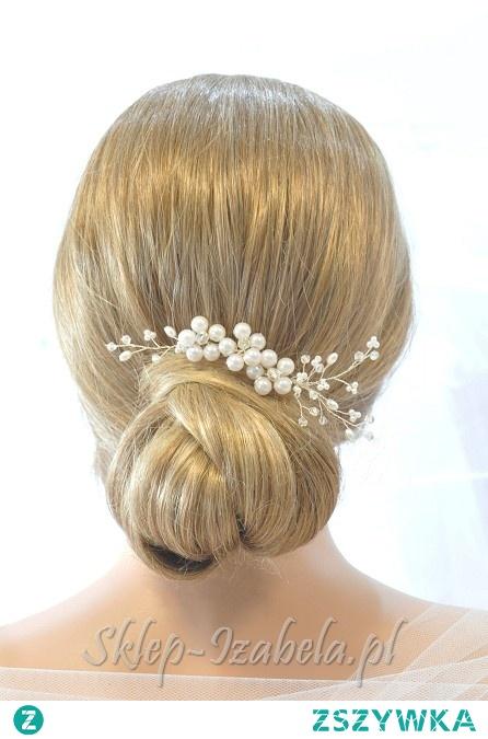 Ozdoby do włosów gałązka z perełkami na ślub