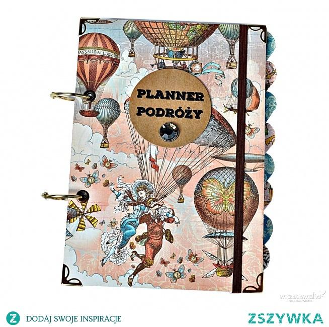 Planner Podróży - personalizowany pamiętnik podróży. Ręcznie wykonany wedle autorskiego projektu. Dostępny na e-wrzosowisko.pl