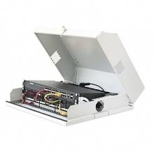 Techly Płaska szafka wisząca 19cali 6U + 3U biała ze szkalnym okienkiem DARMO...