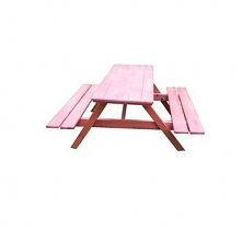 Stół ogrodowy Compact , ławostół , piwny 125x100