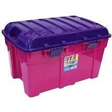 Plastikowy kufer pojemnik skrzynia narzędziowa 48 L Różowy