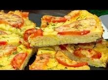 Najprostszy przepis na kabaczkową pizzę z pomidorami.