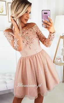 Piękna karmelowa sukienka z...