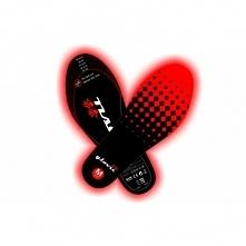 SUNEN Glovii - Ogrzewane wkładki do butów z pilotem, czarno-czerwone rozmiar ...