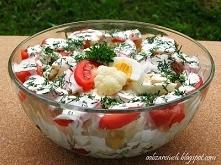 Sałatka z kalafiora i pomidorów        1 kalafior średniej wielkości      4 p...