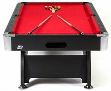 Stół bilardowy spływowy 8 ft czarny