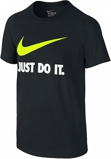 Nike Koszulka Jdi Swoosh Tee Yth Black Volt M