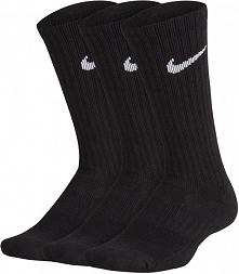 Nike Skarpetki Performance Cushioned Crew Training Socks 3 Pair Black White M