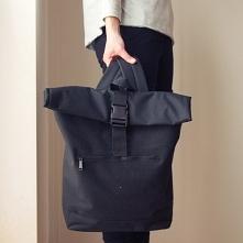 Plecak Rolowany Czarny Kieszeń na laptopa