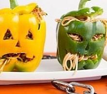 Strrrasznie pyszne nadziewane papryki, idealne na Halloween!