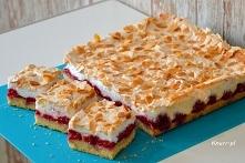 Malinowe ciasto z bezą   Forma ok. 36x21 cm  Kruche ciasto:      23 dag mąki ...