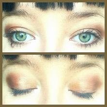 Mój dzisiejszy makijaż wykonany paletką firmy Rimmel. Uwielbiam takie barwy