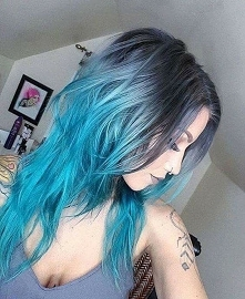 blue gray ombre