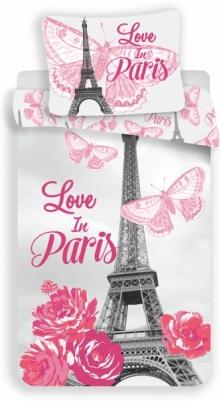Jerry Fabrics Komplet Pościeli Paryż Flowers 140X200 70X90