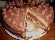 Tort czekoladowo śmietankowy       Biszkopt:     1 szklanka mąki     3/4 szkl...