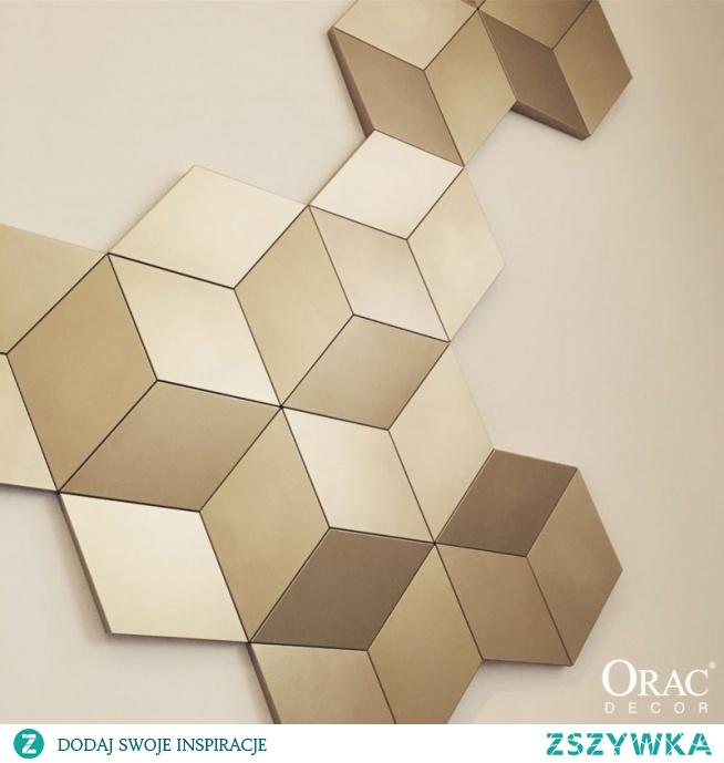 """Panel ścienny 3D ROMB W105 Orac Decor Luxxus w kształcie rombu. Geometryczny wzór rombu """" W105 Rombus """" jest najnowszym modelem z kolekcji ściennych paneli 3D firmy Orac. Panele ścienne 3D W105 to nowoczesne dekoracje gładkie bez zdobień. Model W105 możemy łączyć z Trapezem W101 """" Trapezium """", oraz z Rombem W100 """" Rombus """". Wykonany z wytrzymałych polimerów Purotouch."""