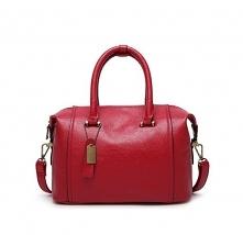 Piękna skórzana torebka w k...