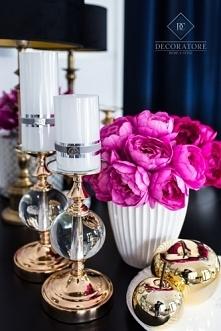 świecznik Tiffany Crystal Gold