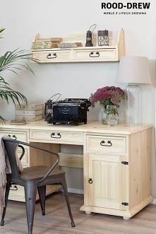 Biurko sosnowe w stylu rustykalnym