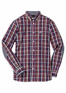 Koszula w kratę, z długim rękawem Regular Fit bonprix ciemnoniebieski w kratę