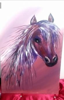 Ręcznie malowany duży obraz koń