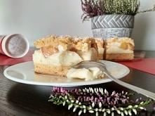 Ciasto z budyniem i brzoskw...