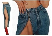 Jeansy z rozpinaną nogawką