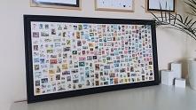 Obraz ze znaczków pocztowyc...
