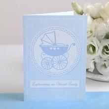 Zaproszenia na Chrzest św. Błękitny Wózek 10 szt. Chrzest Święty zbliża się wielkimi krokami? Zaproś swoich gości wręczając im te unikatowe i eleganckie zaproszenia!