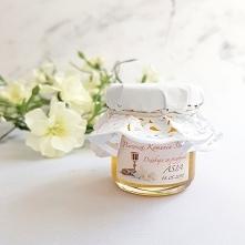 Miód z personalizowaną etykietą Podziękowanie komunijne Podziękuj Gościom w słodki sposób pysznym, naturalnym miodem!