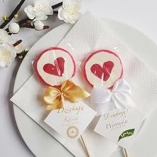 Lizaki z sercem i pięknym bilecikiem 10szt Lizaki to świetna forma podziękowa...