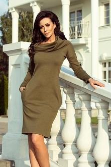 Sukienka z dużym golfem i k...
