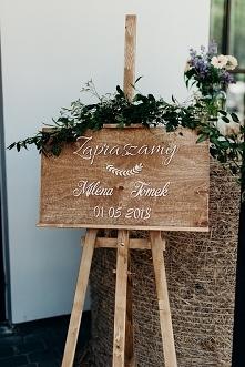 Tablica powitalna na wesele / witająca gości
