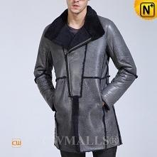Thanksgiving Gifts | CWMALLS® Copenhagen Men Sheepskin Shearling Coat CW80766...