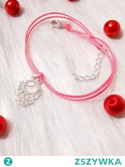Delikatna bransoletka z motywem słodkiego aniołka (srebro 925). Zapraszamy do naszego sklepu andajewellery.pl link w komentarzu :)