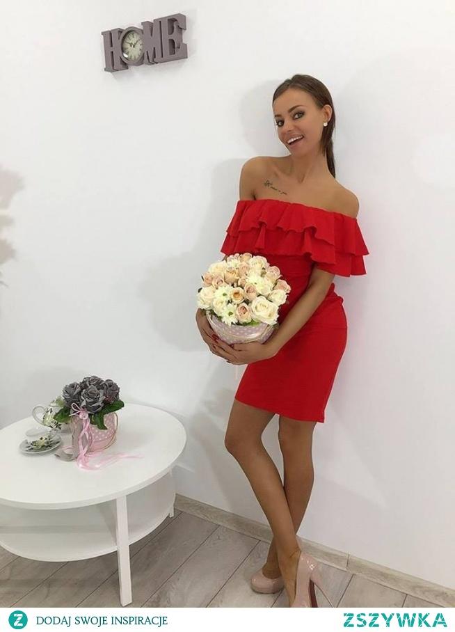 Sukienka hiszpanka midi na Sukienki na wesele Zszywka.pl