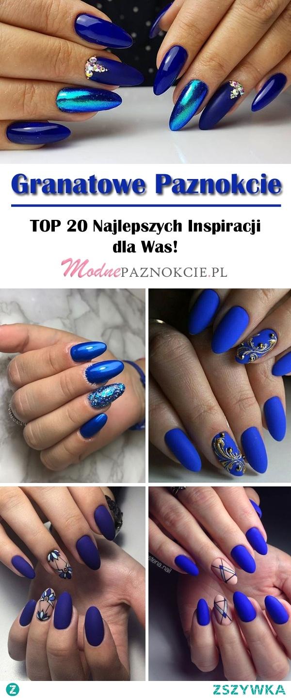 Granatowe Paznokcie w Pięknej Odsłonie: TOP 20 Najlepszych Inspiracji dla Was!