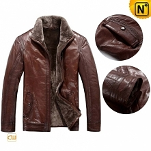 Thanksgiving Gift | CWMALLS® Detroit Multifunctional Shearling Leather Jacket...