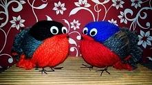 Ptaszki z resztek wlóczki