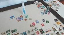 Obraz ze znaczków pocztowych