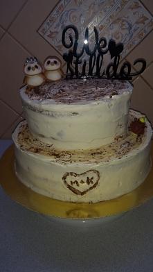 tort rocznica ślubu 5 drewna