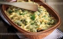 Brokuły, kalafior i cukinie zapiekane