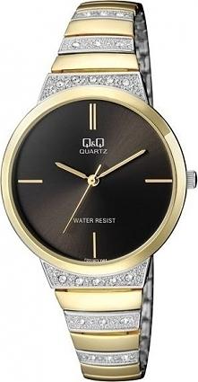 Zegarek Q&Q Damski F553-402 Cyrkonie Biżuteryjny