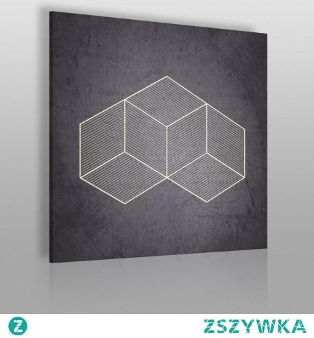 Geometryczny kształt - nowoczesny obraz na płótnie