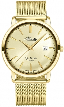 Pozłacany zegarek Atlantic