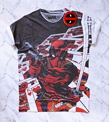 MARVEL T-SHIRT DEADPOOL - koszulka z marvela z nadrukiem deadpool - modna mło...