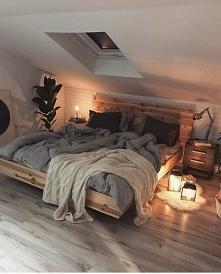 Bardzo klimatyczna sypialni...